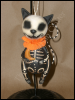 Animal Skelly Ornament Holding Moon