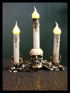White Skeleton Candelabra