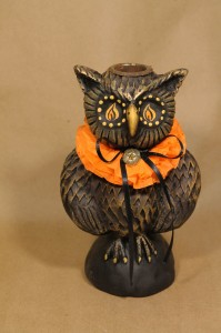 Isaac the Owl Candle Holder