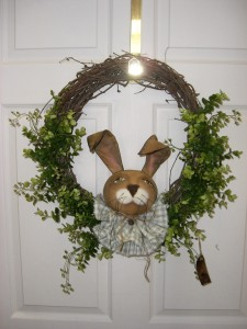 Country Rabbit Grapevine Wreath