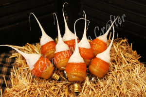 Country Candy Corn Silicone Light Bulb
