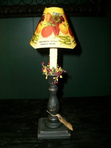 Black Candlestick with Burpee Catalog Shade
