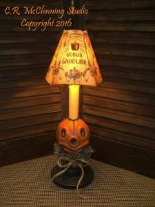 Country Primitive Pumpkin Head Accent Light