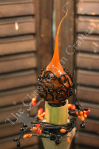 Country Orange wrapped with faux black wire