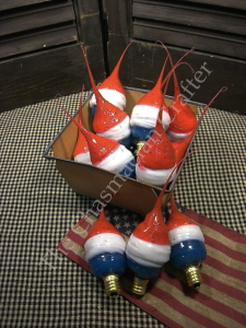 Red, White and Blue Silicone Light Bulb