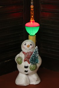 1950 Candy Container Snowman with Bubble Light
