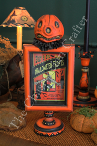 Folk Art Pumpkin Clock