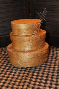 Handcrafted Oval Boxes set of three