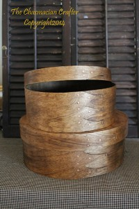 Handcrafted Round Oak Cheese boxes
