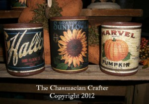 Faux Rusty Fall Tin Cans