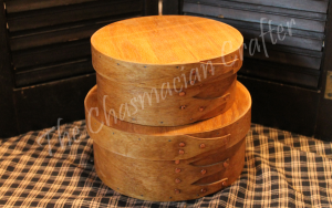 Handcrafted Oak Round Cheese boxes set of two